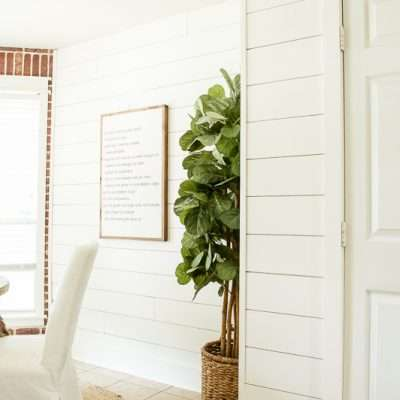 DIY Shiplap Walls: The Cheap & Easy Way