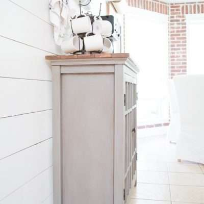 Coffee Bar Makeover with Paint