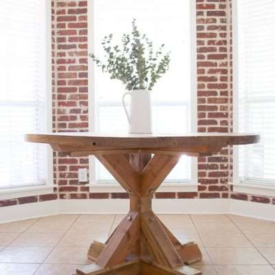 How to Build a Round Farmhouse Dining Table