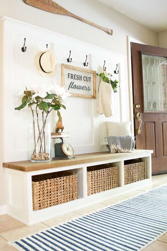 summer porch and entryway tour mudroom
