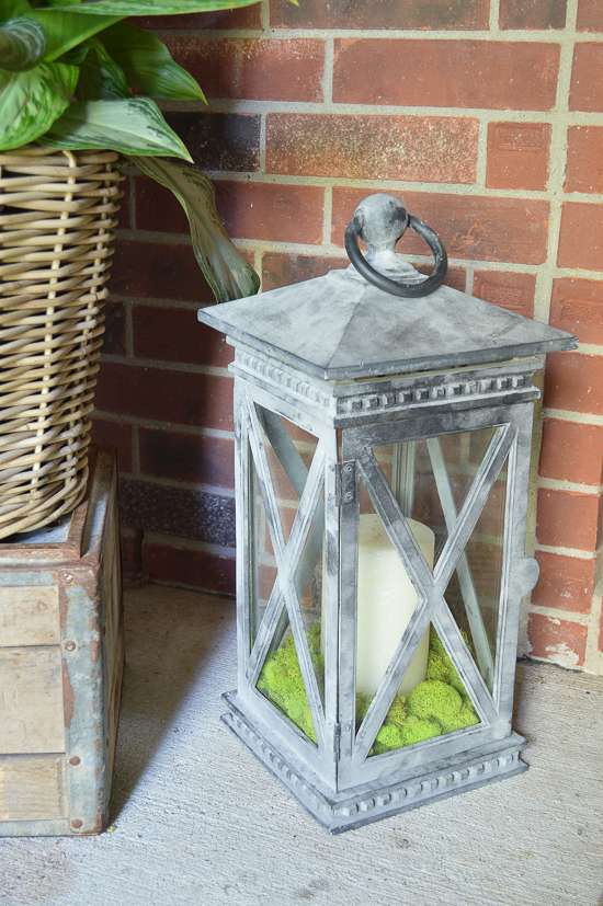 summer porch and entryway tour lantern