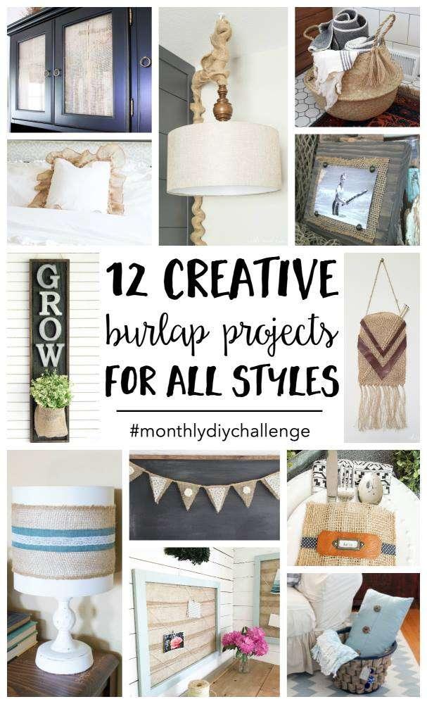 burlap craft project ideas
