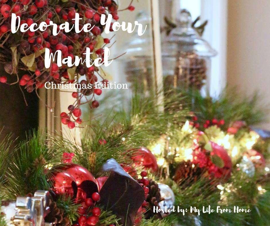 farmhouse style holiday mantel / farmhouse Christmas mantel