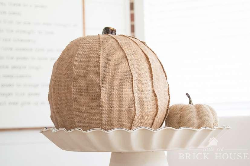 Burlap Covered Pumpkin