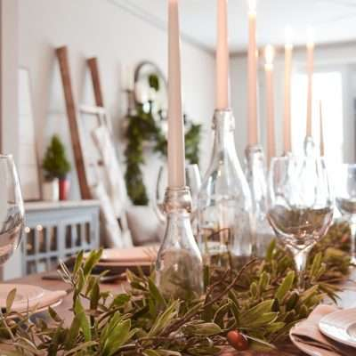 Simple Farmhouse Christmas Dining Room Tour