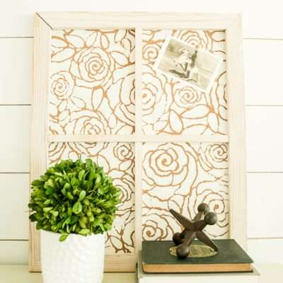 How to Make a Stenciled Framed Cork Board