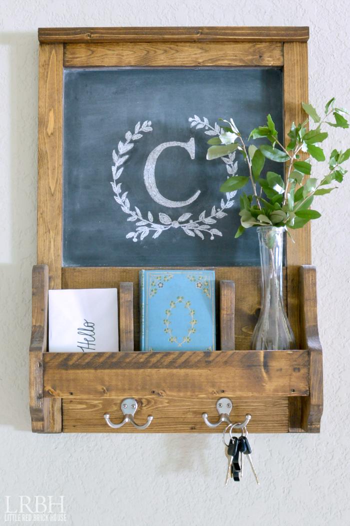chalkboard command station / chalkboard mail sorter