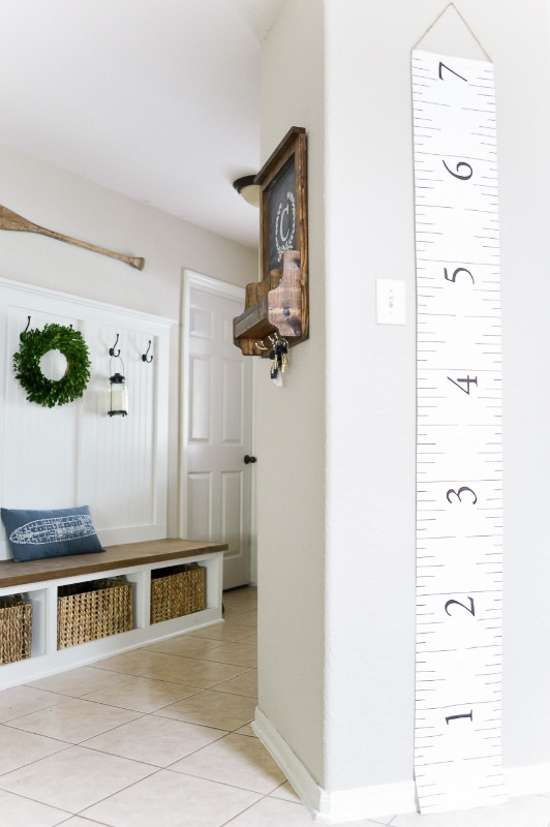 canvas growth chart / measuring tape growth chart