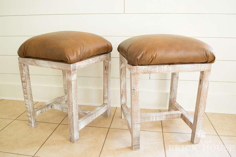 diy leather footstools