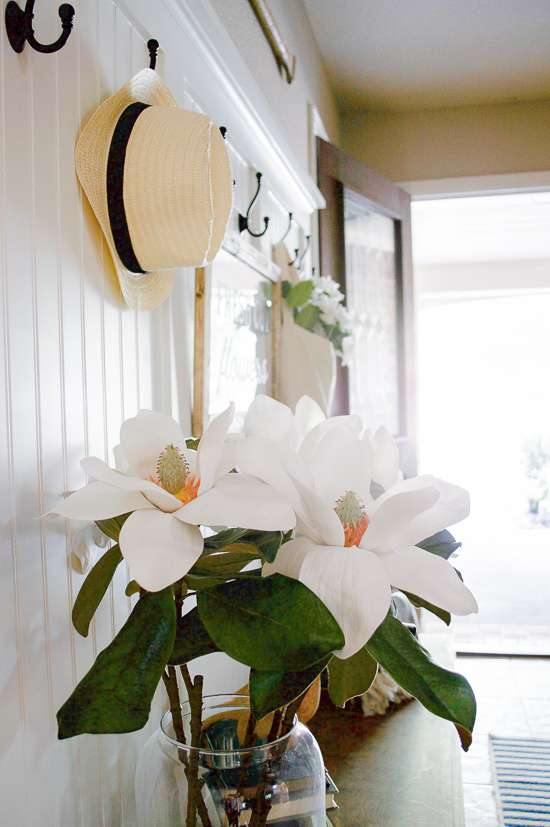 summer porch and entryway tour / summer entryway decorating