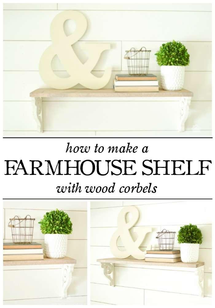wood corbel farmhouse shelf