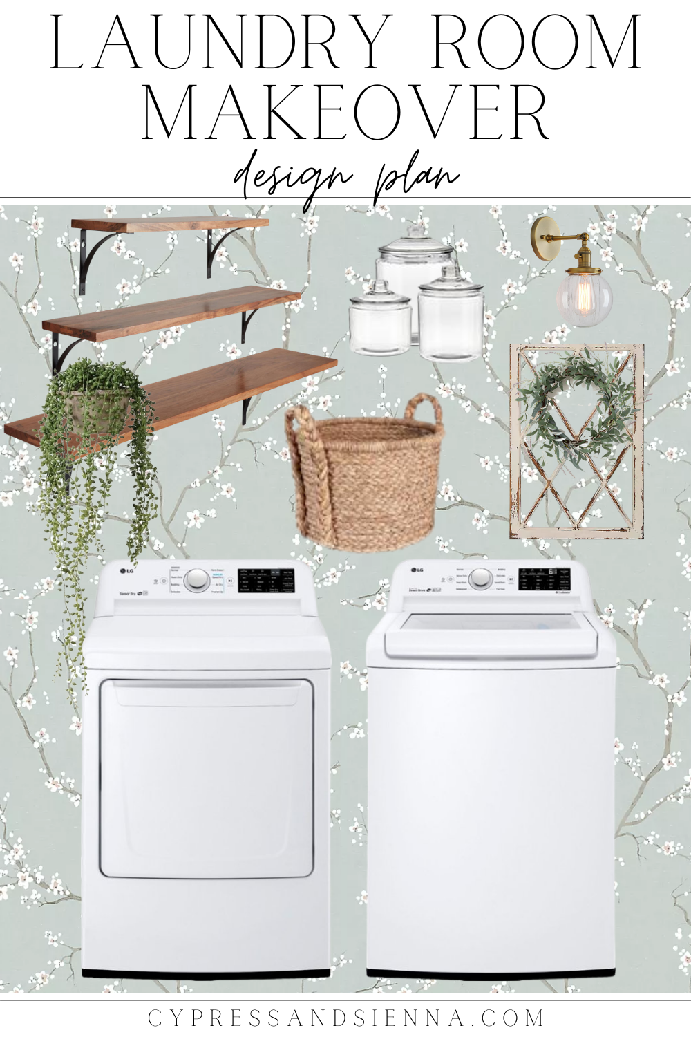 Laundry Room Makeover Design Plan Mood Board